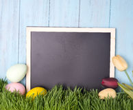Decorated easter eggs in the grass Royalty Free Stock Photography