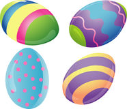 Decorated Easter eggs icons Stock Images