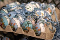 Decorated Easter eggs in Salzburg Royalty Free Stock Photo