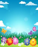 Decorated Easter eggs theme image 3. Eps10 vector illustration Stock Photography