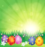 Decorated Easter eggs theme image 4 Stock Photos