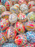 Decorated easter eggs. Traditional romanian decorated easter eggs Stock Photos