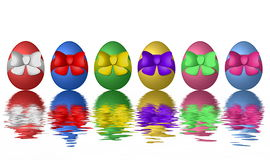 Decorated Easter eggs on white Royalty Free Stock Images
