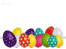 Decorated Easter eggs on white background Royalty Free Stock Images