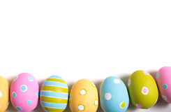 Decorated Easter Eggs on a white background Stock Image
