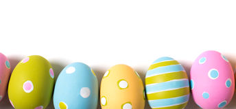 Decorated Easter Eggs on a white background Royalty Free Stock Photos