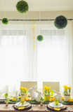 Decorated Easter Table Royalty Free Stock Image