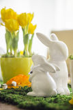Decorated Easter Table Stock Image