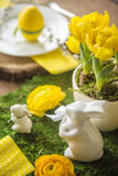 Decorated Easter Table Stock Photos