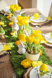 Decorated easter table Royalty Free Stock Photos