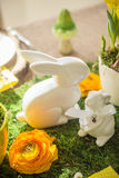 Decorated easter table Royalty Free Stock Photography