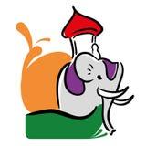 Decorated elephant festival india design. Vector illustration eps 10 Royalty Free Stock Photography
