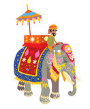 Decorated elephant at an Indian festival. Illustration of a decorated elephant at an Indian festival Stock Image