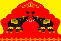 Decorated Elephant showing Indian culture. Vector illustration of decorated elephant showing Indian culture Stock Photos