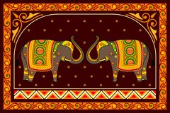 Decorated Elephant Royalty Free Stock Photos