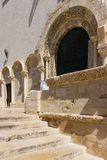 Entrance. The Cathedral. Trani. Apulia. Italy Stock Images