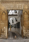 Decorated entrance door in Cordoba royalty free stock images