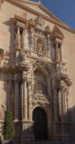 Decorated entrance to Basilica of Santa Maria in Elche, Spain Stock Photo
