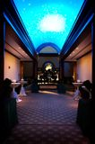 Decorated entryway to a wedding reception Stock Photo