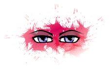 Decorated eyes Stock Image