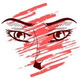 Decorated eyes Royalty Free Stock Image