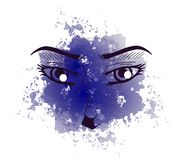 Decorated eyes Royalty Free Stock Images