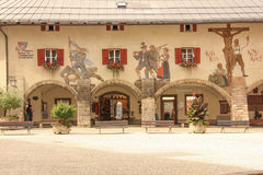 Decorated facade. Berchtesgaden.Germany Royalty Free Stock Image