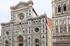 Decorated facade of Duomo and Campanile, Florence Stock Photos