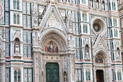 Decorated facade of Duomo Cathedral in Florence Stock Photo