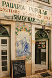 Decorated facade. Folk bakery. Coimbra.Portugal Stock Photography
