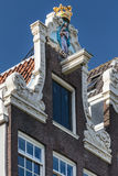 Decorated facade of a historic Amsterdam house Stock Image