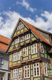 Decorated facade of a historic house in Celle Stock Photo