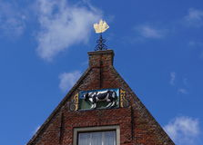 Decorated facade, Hoorn, the Netherlands Royalty Free Stock Image