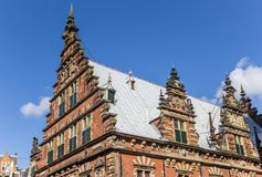 Decorated facade of the Museum of Archeology in Haarlem Royalty Free Stock Images