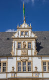 Decorated facade of the Neuhaus castle in Paderborn Stock Images