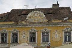 Decorated facade in Sibiu Romania Stock Image