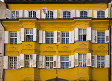 Decorated facade and windows, Bolzano Italy Royalty Free Stock Photos