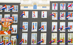 Decorated facades in Amsterdam the Netherlands on occasion of th Stock Image