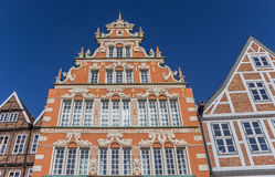 Decorated facades of historical houses in Stade Stock Image