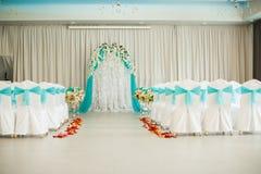 Decorated festive wedding hall