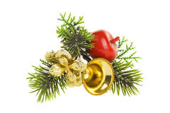 Decorated fir branch Stock Photo