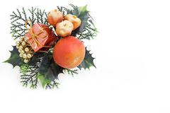 Decorated fir branch Royalty Free Stock Images