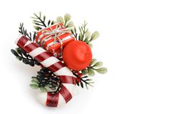 Decorated fir branch Stock Image