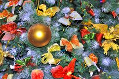 Decorated Fir Tree on Christmas Eve Stock Image