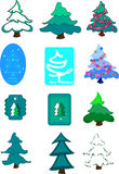 Decorated firs Royalty Free Stock Image