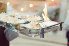 Decorated Fish with Fire Stock Image