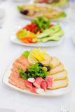Decorated Fish Plate Royalty Free Stock Image