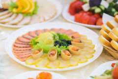 Decorated Fish Plate Royalty Free Stock Photo