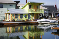 A decorated floating house, Portland OR. Royalty Free Stock Photography