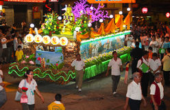 A Decorated Floats at Wesak Procession 2011 Stock Images
